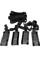 Sex And Mischief Bed Bondage Restraint Kit - Black
