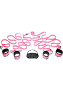 Frisky Pink Bedroom Restraint Kit - Pink