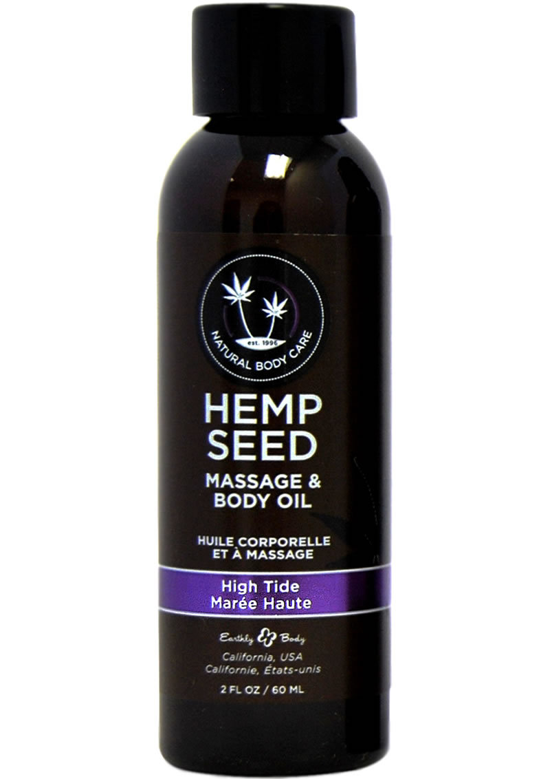 Hemp Seed Natural Body Care Massage And Body Oil High Tide 2 Ounce